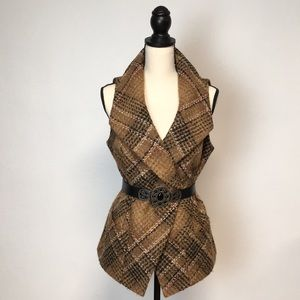 Classiques Entier Tweed Vest with Shawl Collar